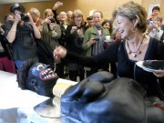 "Swedish Minister of Culture celebrating with ""n*g*er cake"""