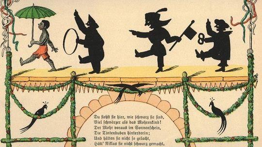 """Illustration zur """"Mohren""""-Geschichte aus dem """"Struwwelpeter"""" (Heinrich Hoffmann, 1858)"""